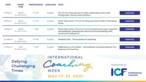 International Coaching Week Events