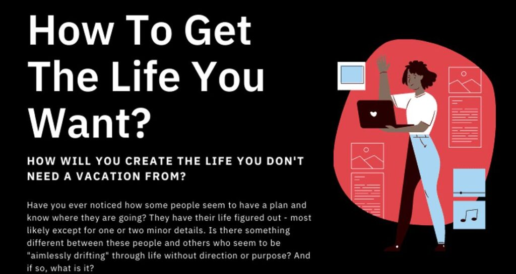 How To Get The Life You Want Infographic